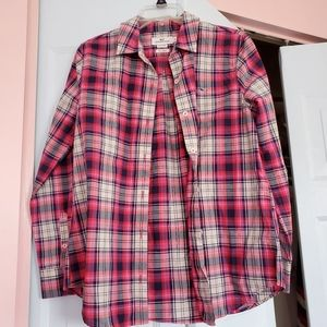 Vineyard Vines Relaxed Fit Plaid Button Down Top